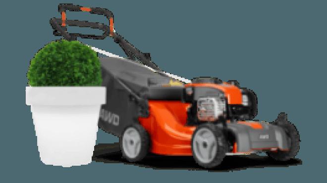 Plant en grasmachine